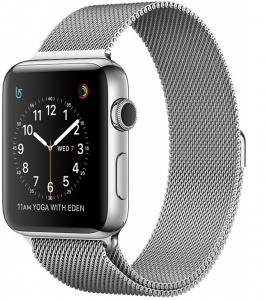 Apple Watch Stainless Steel 38mm with Milanese Loop (series 2)